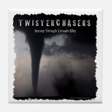 TwisterChasers T Shirt Tile Coaster