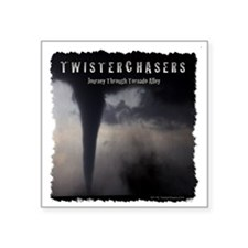 """TwisterChasers T Shirt Square Sticker 3"""" x 3"""""""