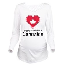 Happily Married Canadian Long Sleeve Maternity T-S