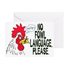 Fowl Language 1 Greeting Card