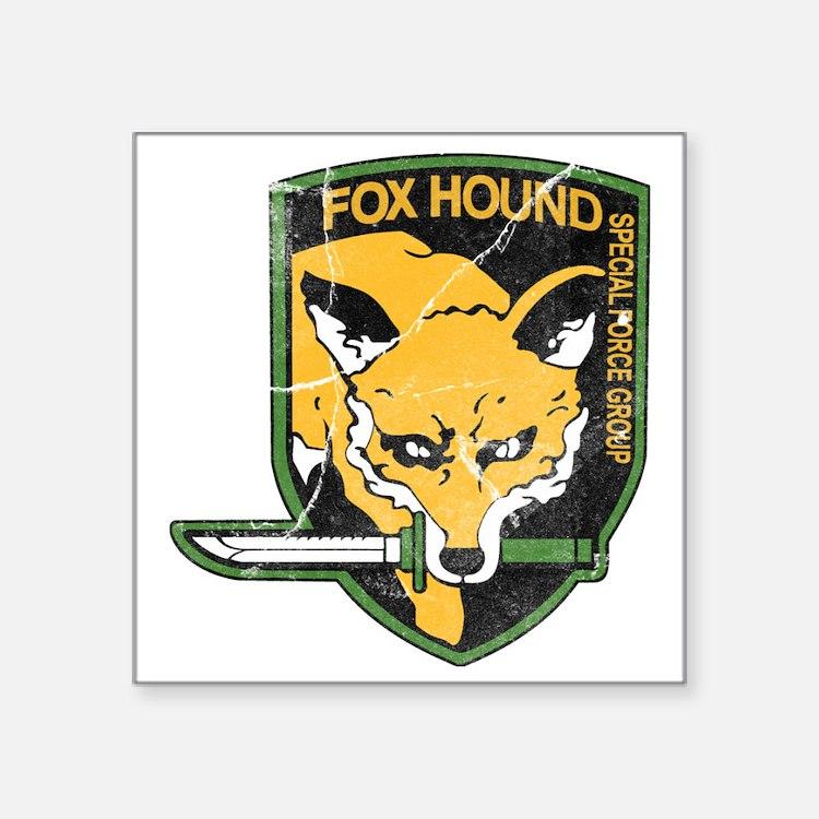 "mgs_foxhound_final Square Sticker 3"" x 3"""