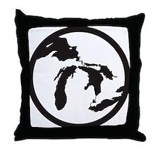 greatlakessticker Throw Pillow