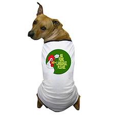 Fowl Language Button Dog T-Shirt