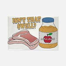 Pork chops apple sauce copy Rectangle Magnet