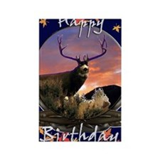 Trophy buck birthday Rectangle Magnet