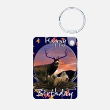 Trophy buck birthday Aluminum Photo Keychain
