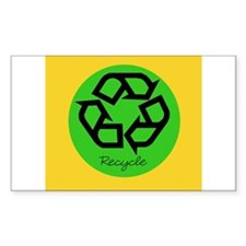 recycle Rectangle Decal
