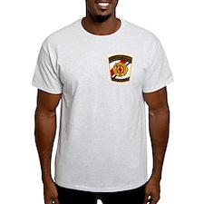 USCG Fire Department<BR> Grey T-Shirt 2