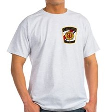 USCG Fire Department<BR> Grey T-Shirt 1