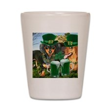 irish dogs 16x12 copy Shot Glass