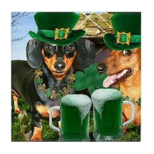 irish dogs 16x12 copy Tile Coaster