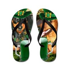 irish dogs 16x16 copy Flip Flops