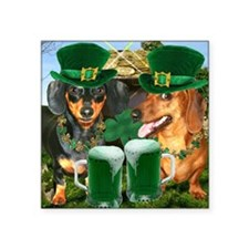 "irish dogs 16x16 copy Square Sticker 3"" x 3"""