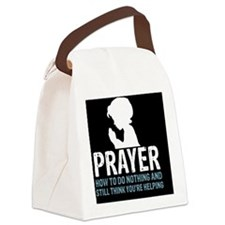 2-Prayer.square Canvas Lunch Bag