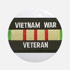 RVN War Veteran Ornament (Round)