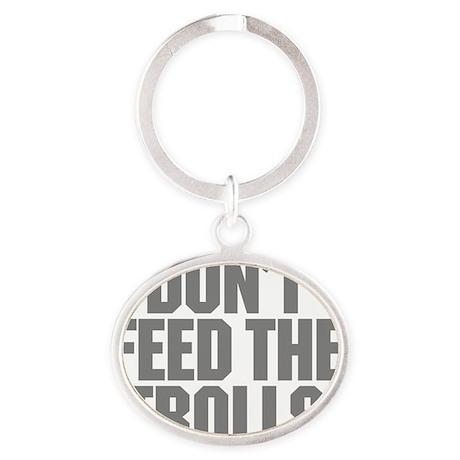feed_trolls Oval Keychain