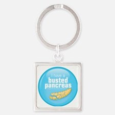 busted Square Keychain