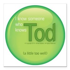 """2-knowstod Square Car Magnet 3"""" x 3"""""""