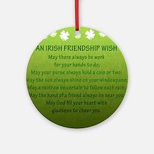 FriendshipWish_Square Round Ornament