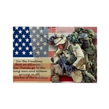Patriotic_soldier 5 Rectangle Magnet