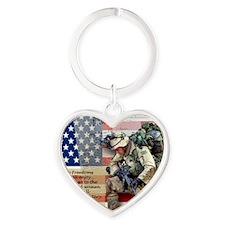 Patriotic_soldier 5 Heart Keychain