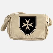 Cross of Malta - Black Shield Messenger Bag