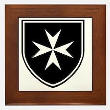 Cross of Malta - Black Shield Framed Tile