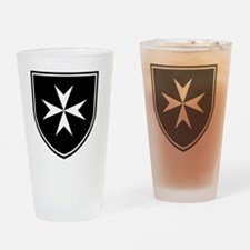 Cross of Malta - Black Shield Drinking Glass