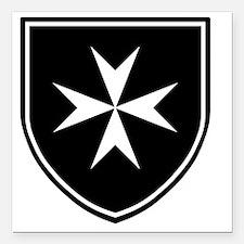 "Cross of Malta - Black S Square Car Magnet 3"" x 3"""