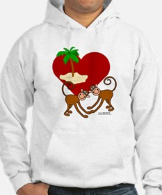 I Love Monkeys Jumper Hoody