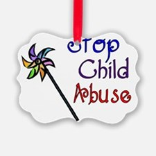 Stop Child Abuse Ornament