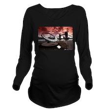 Tower Bridge London Long Sleeve Maternity T-Shirt