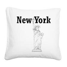StatueOfLiberty_10x10_apparel Square Canvas Pillow