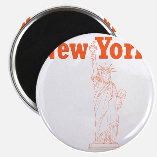 StatueOfLiberty_10x10_apparel_Orange Magnet