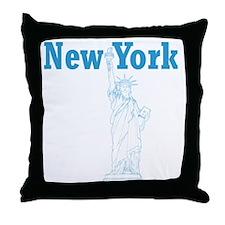 StatueOfLiberty_10x10_apparel_LBlue Throw Pillow