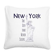 StatusOfLiberty_10x10_apparel Square Canvas Pillow