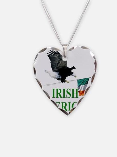 eagle irishamerican Necklace Heart Charm