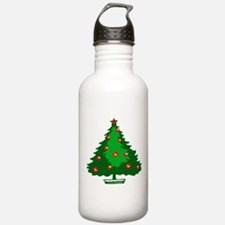 Decorated Christmas Tree Water Bottle