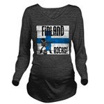 Finland Rocks Long Sleeve Maternity T-Shirt