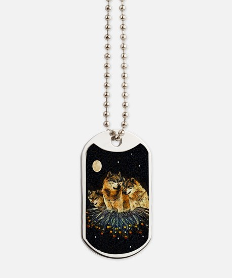 Sky Wolves Dog Tags