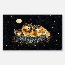 Sky Wolves Sticker (Rectangle)