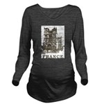 Vintage France Long Sleeve Maternity T-Shirt