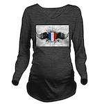 France Long Sleeve Maternity T-Shirt