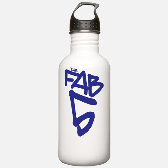 3-fab5back Water Bottle