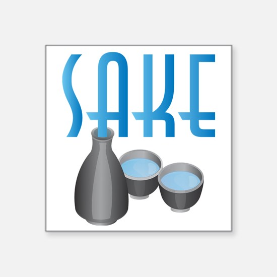 "C-256 (sake) Square Sticker 3"" x 3"""