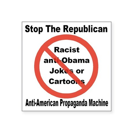 """stop_republican_propaganda_ Square Sticker 3"""" x 3"""""""