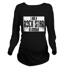 Rock Star In Gambia Long Sleeve Maternity T-Shirt