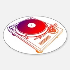 Vinyl Turntable 5 Sticker (Oval)