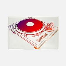 Vinyl Turntable 5 Rectangle Magnet