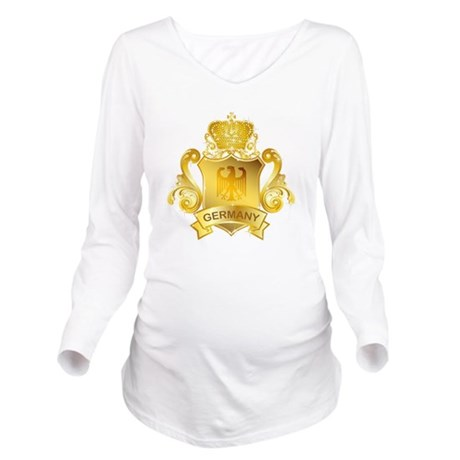 Gold Germany Long Sleeve Maternity T-Shirt